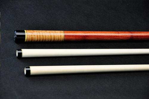 This 60 inch bumperless beauty has curly maple with a bubinga handle.