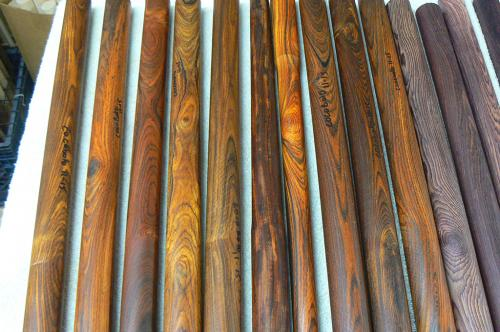 Rounds of Mexican wood waiting for a cue