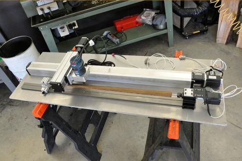 This is a computerized lathe dedicated for finish cuts on cues being built