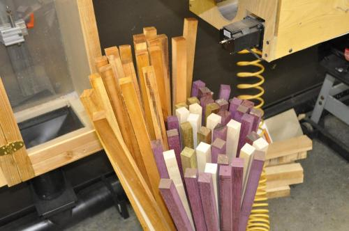 Some core and shaft squares waiting to be turned round