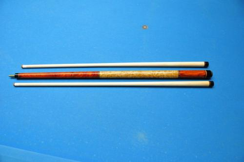 Built with Goncalo Alves full core.  Beautiful cue with solid construction.